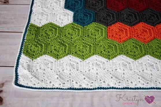Hexagon Owl Blanket a free crochet pattern