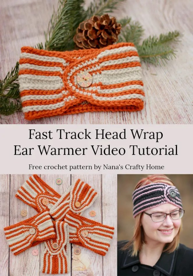 Fast Track Head Wrap Ear Warmer video tutorial