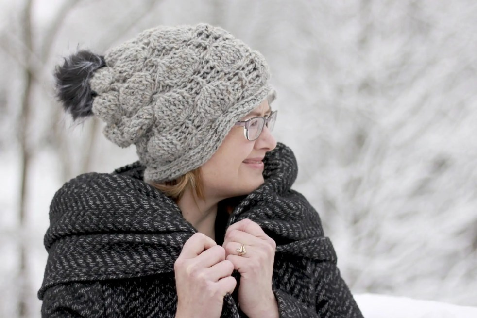 Balloon Stitch Slouchy Hat Free Crochet Pattern