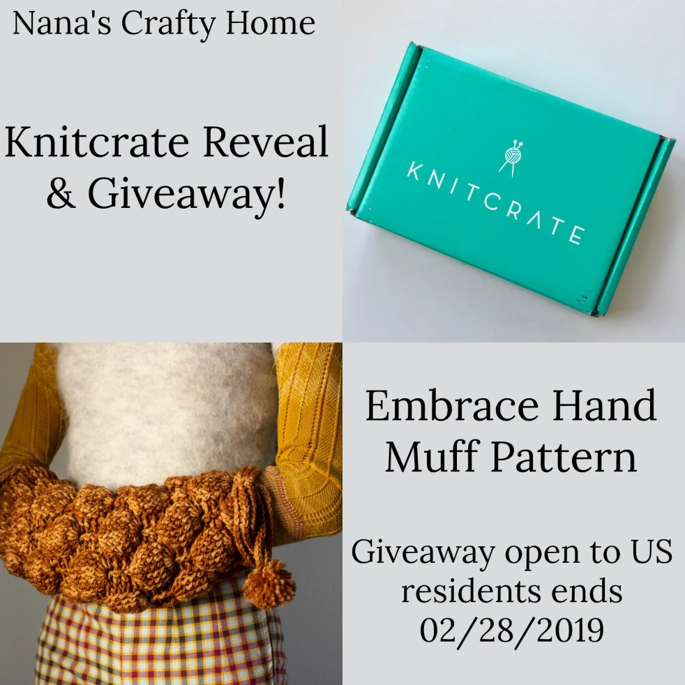 Embrace Hand Muff Knitcrate Reveal + Giveaway