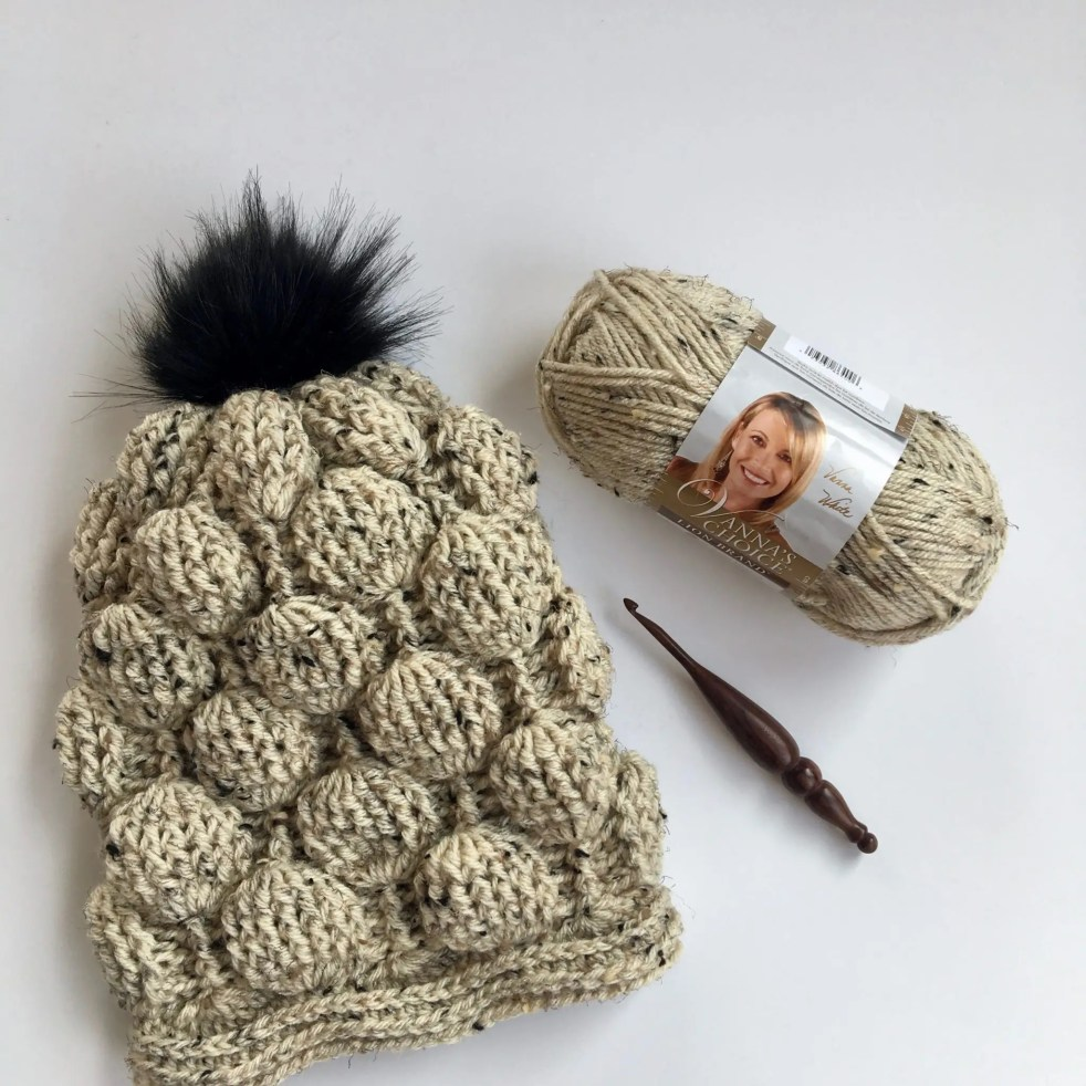 Balloon Stitch Slouchy Hat Free Crochet Pattern Video Tutorial