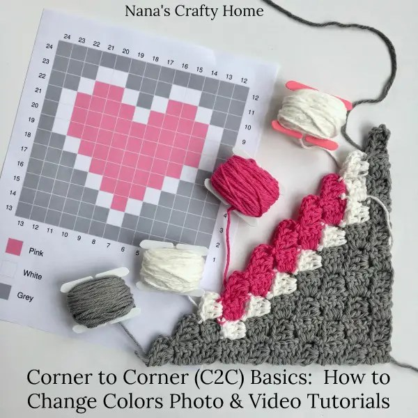 Corner to Corner (C2C) Basics:  How to Change Colors Photo & Video Tutorial