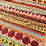 Autumn Rhapsody Stitch Sampler Blanket Crochet Pattern
