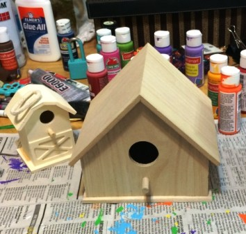 birdhouses not painted