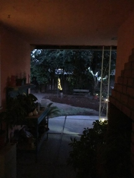 lights seen from patio