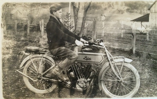George with Pope Motorcycle