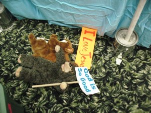 puppets with signs 2011