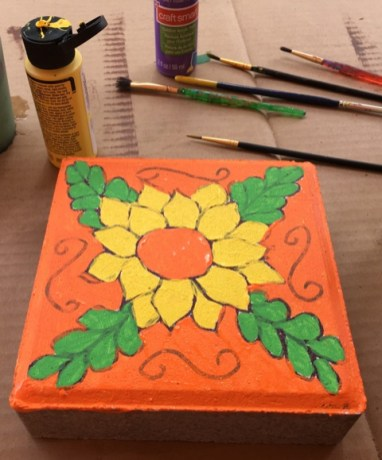 flower stepping stone