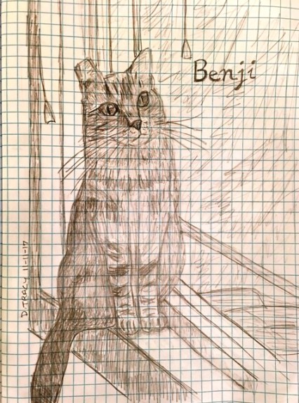 Benji on graph paper
