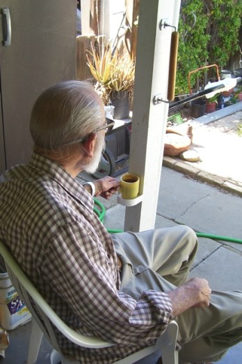 Daddy on porch1