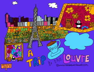 Louvre coloring example