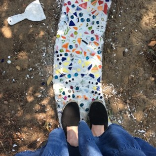 mosaic with shoes