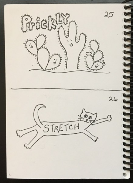 prickly, stretch