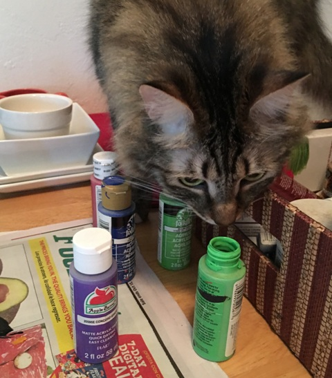 smelling paint