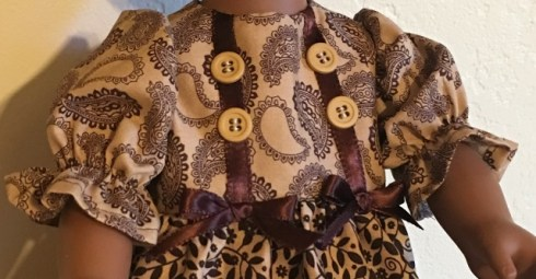 close up of brown bodice