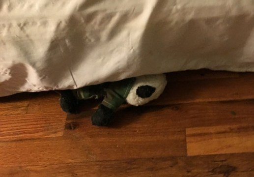 fatigues under bed