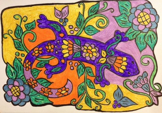 gecko drawing 2