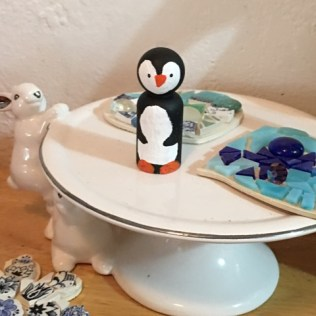penguin on plate