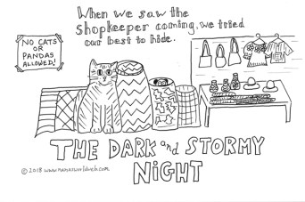 Stormy night coloring a
