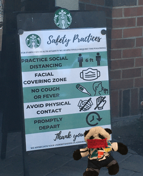 a starbucks sign