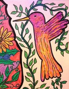 hummingbird drawing 2