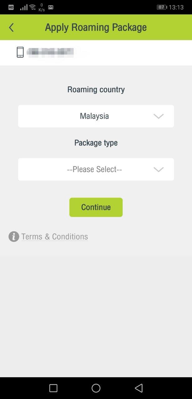 タイ隣国用パッケージ「Border Countries」アプリ購入方法7