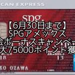 SPGアメックス紹介ボーナスキャンペーン