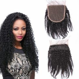 Brazilian hair curly closure