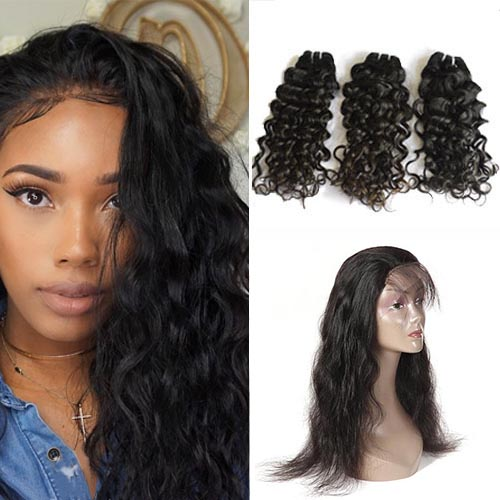 Hair weave natural wave 3 bundles with match 360 lace frontal hair weave natural wave 3 bundles with match 360 lace frontal pmusecretfo Choice Image