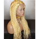 lace wig blond curly