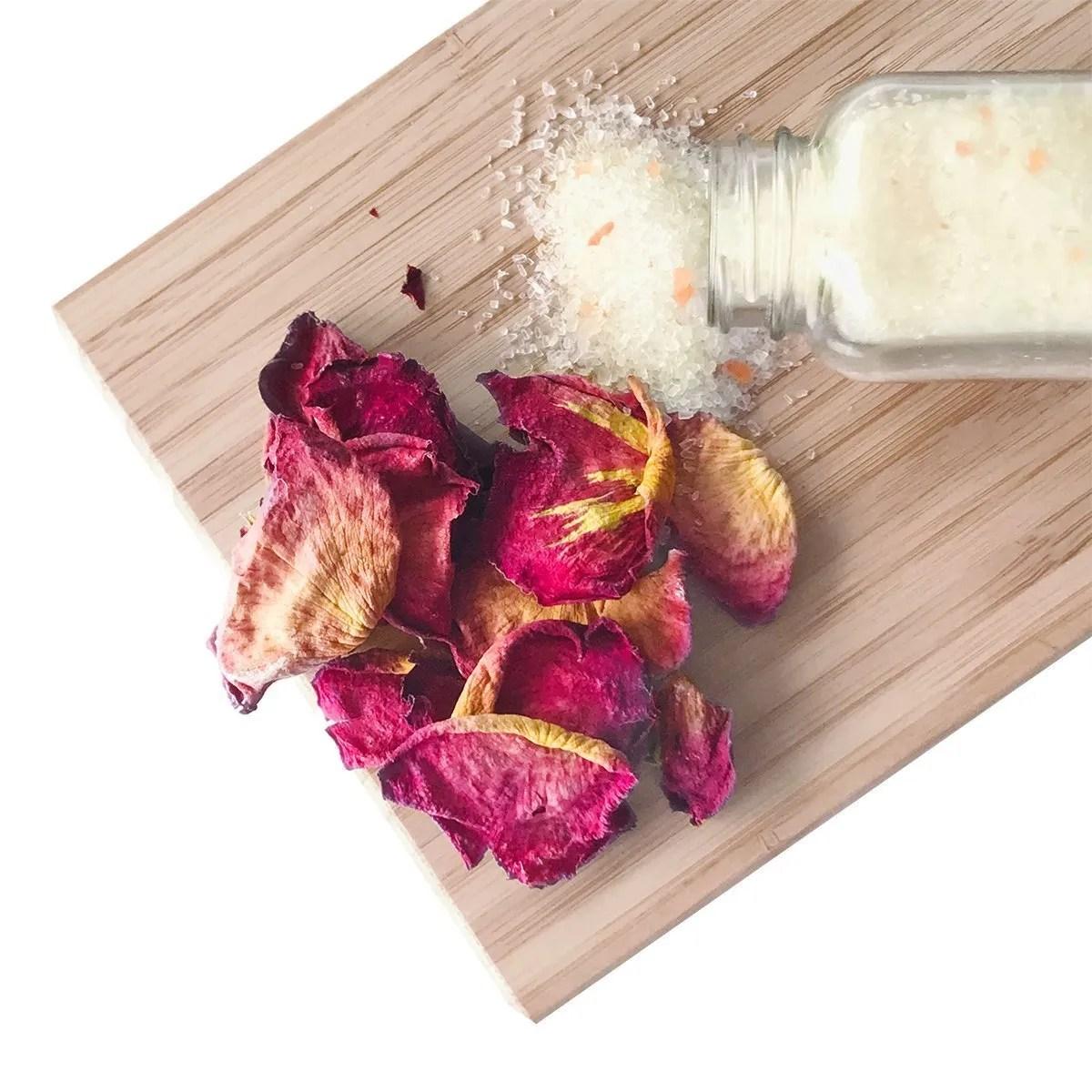 rose bath salts
