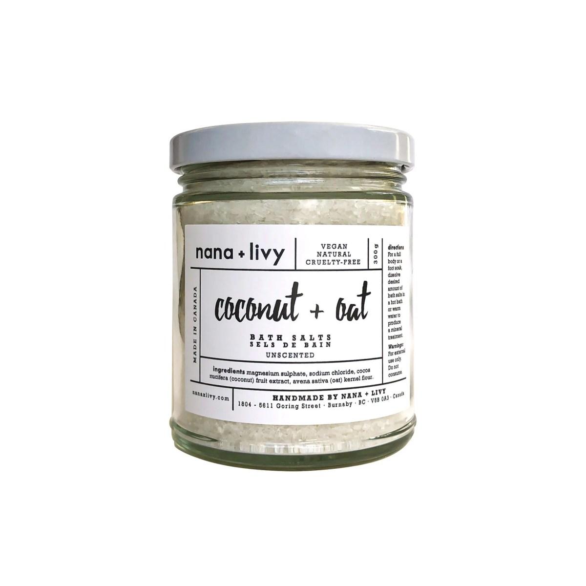 Coconut + Oat Bath Salts