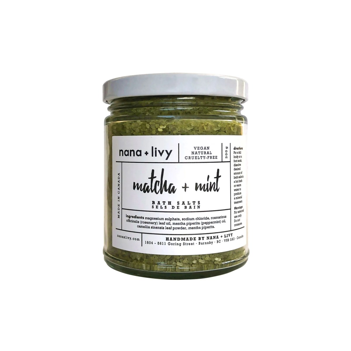 Matcha + Mint Bath Salts