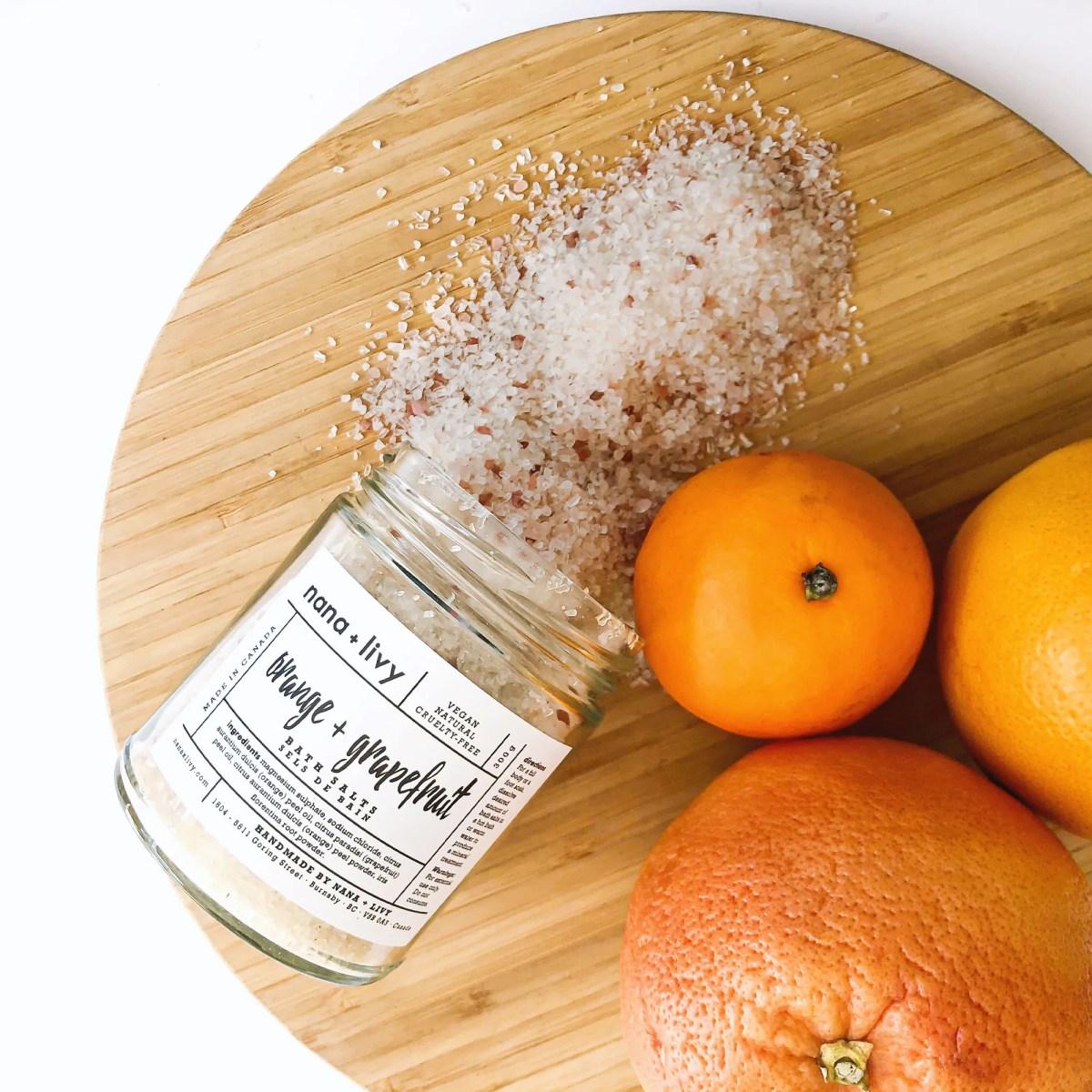 Orange + Grapefruit Bath Salts