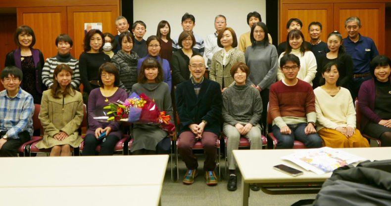 講演会終了後の記念撮影