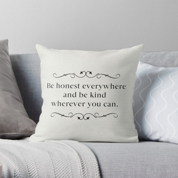 Be Honest Everywhere - Clean Version Throw Pillow