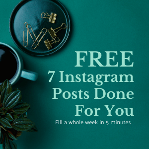 Get 7 Instagram posts anyone can use