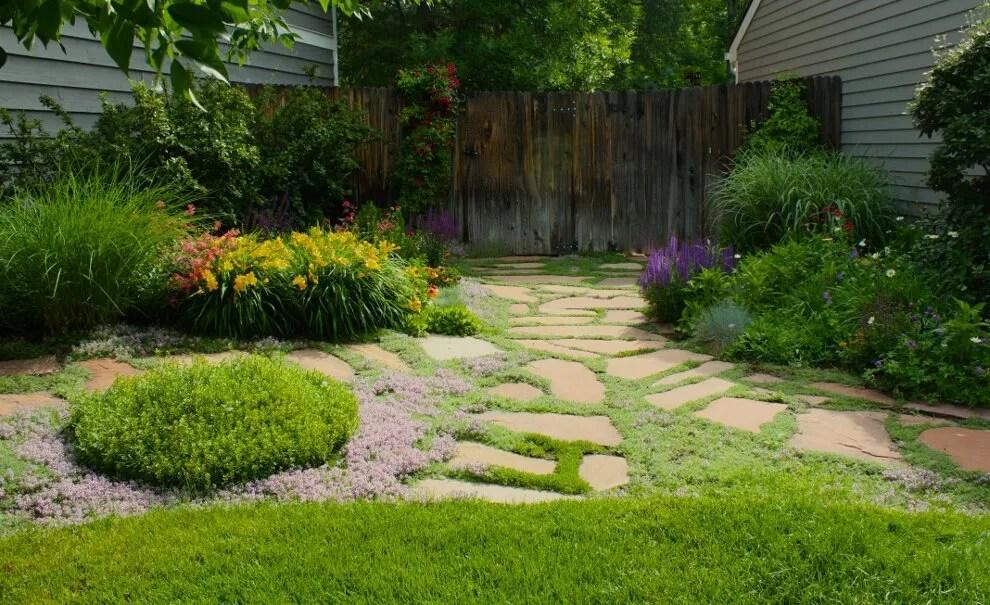 Perennial Side Yard Path