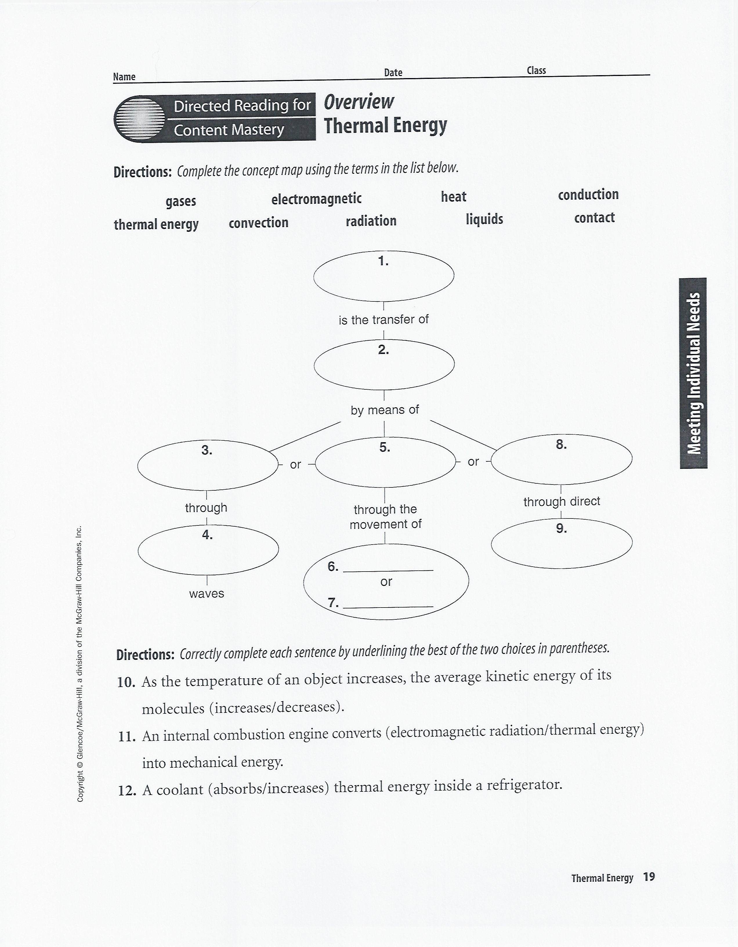 Chapter 22 Heat Transfer Worksheet Answers
