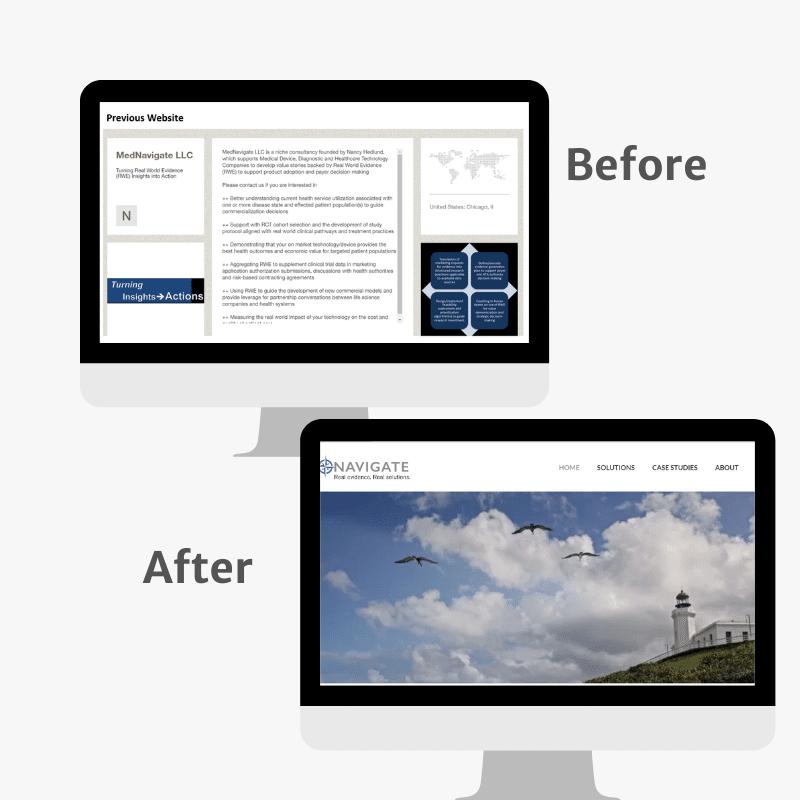 mednavigate website before and after