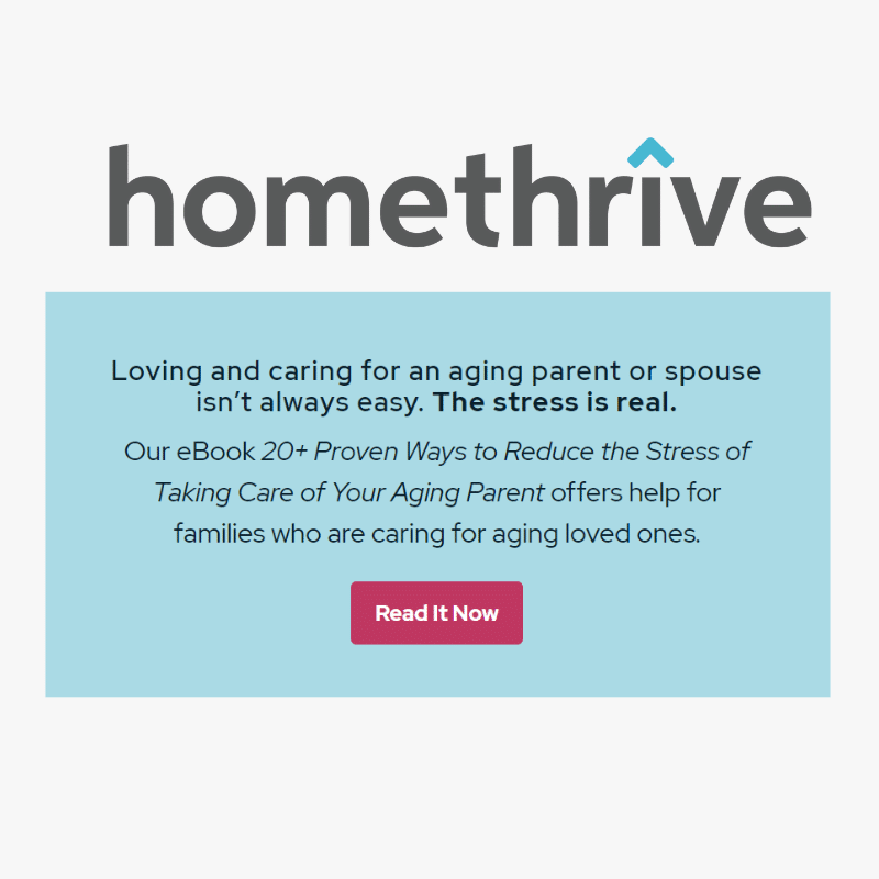 Homethrive content marketing screen capture from website showing eBook Nancy Burgess wrote