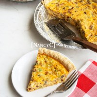 Bacon Onion Mushroom Quiche
