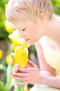 flower, stress free, blonde, peace