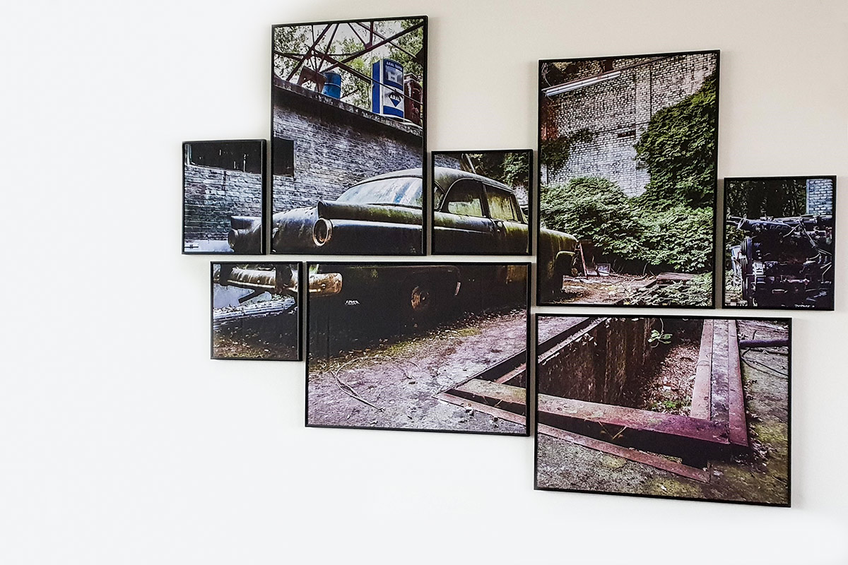 fotobewerking, fotolijst, canvas, Urbex, auto