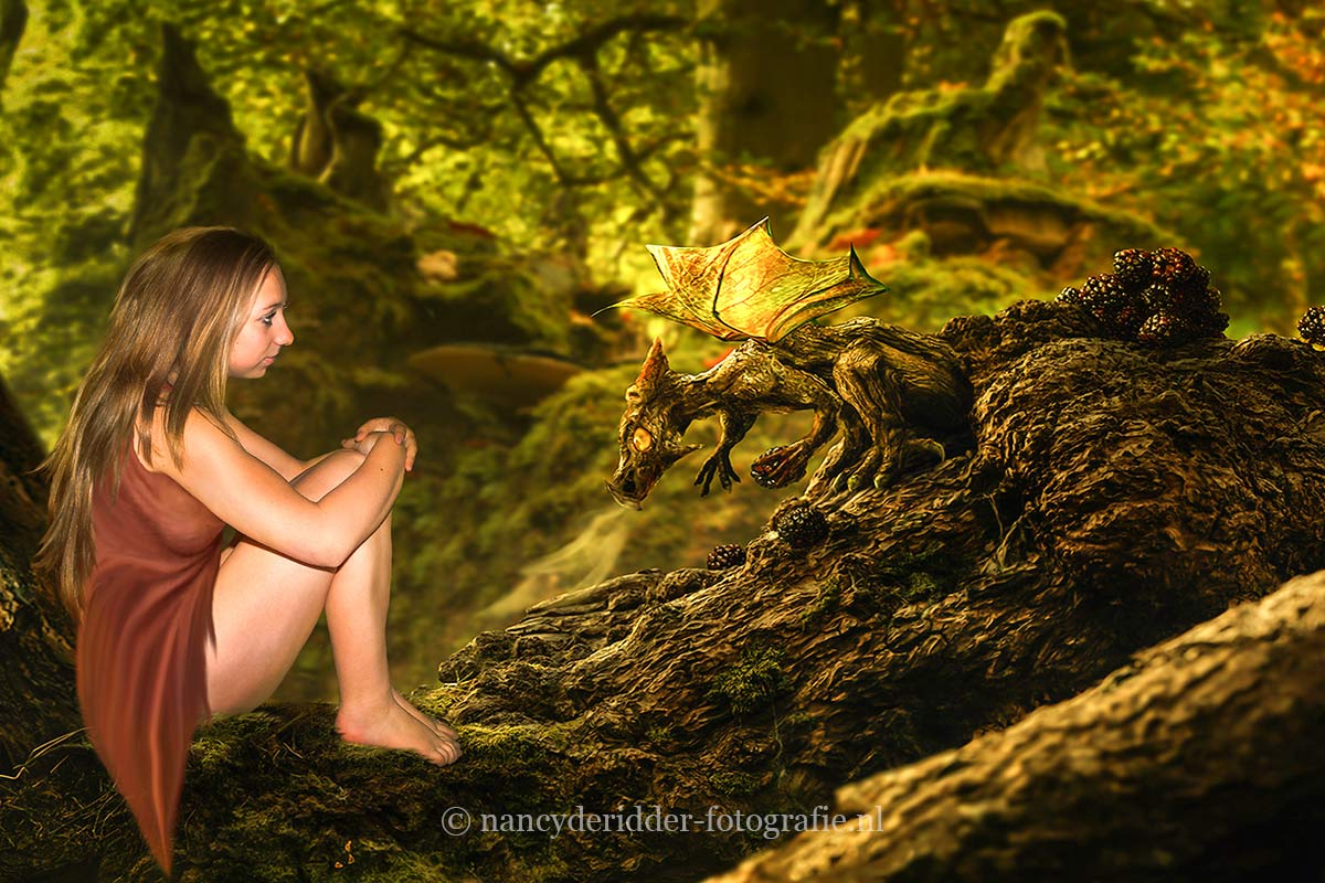 Dragon Girl on Tree