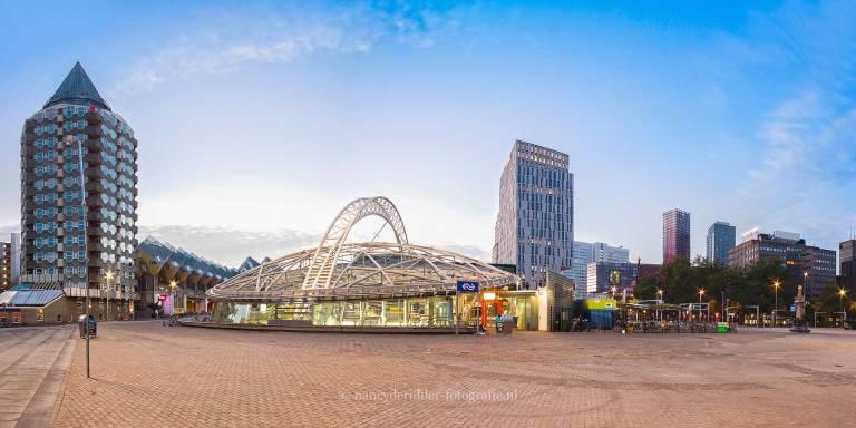 Steden, rotterdam, station-blaak