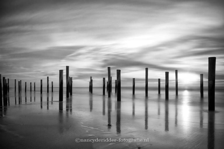 zwart/wit fotografie, palendorp, petten, noord-holland
