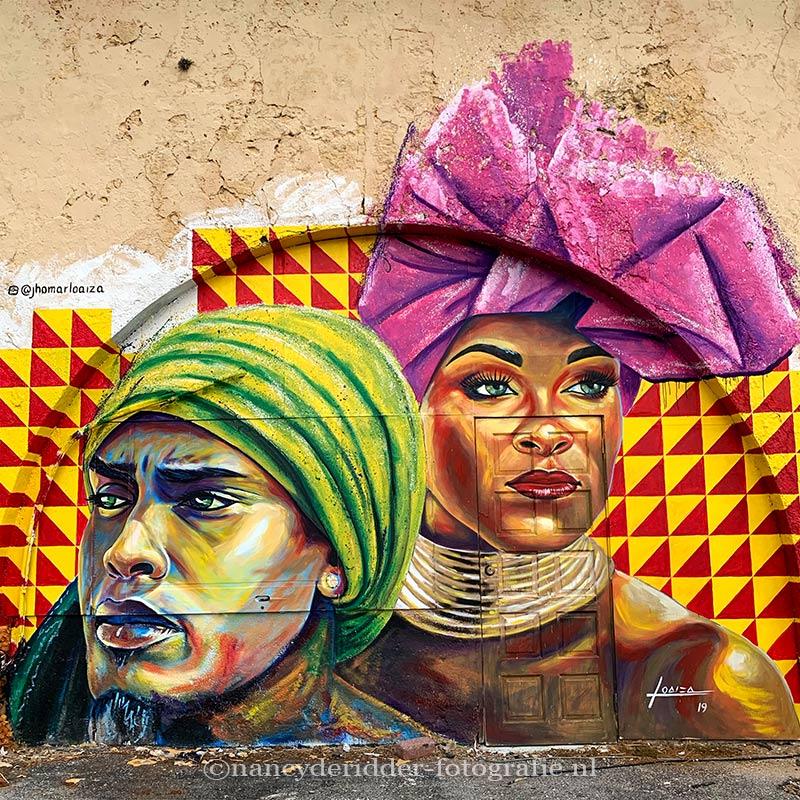 reizen, curacao, muurschilderingen