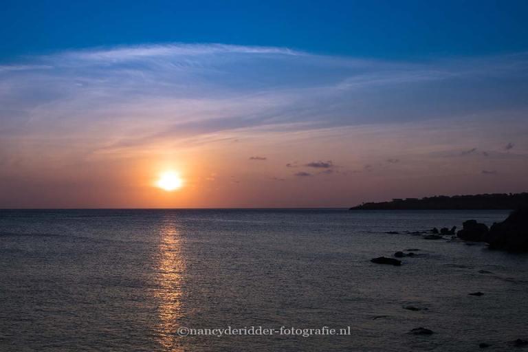 reizen, curacao, Directors-bay, sunset