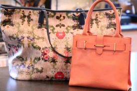 large tote and small handbag